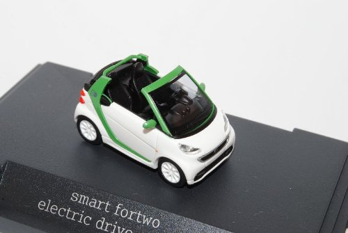 Smart ForTwo Cabrio Weiss Grün Facelift 2010 Ab 2007 A451 H0 1/87 Herpa Modell Auto