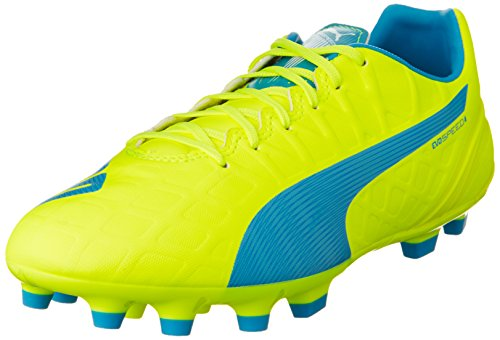 PumaevoSPEED 4.4 AG - Scarpe da Calcio Uomo , Giallo (Gelb (safety yellow-atomic blue-white 04)), 43
