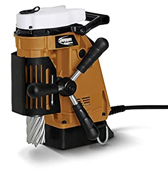 "Jancy Magforce Portable Magnetic-Base Drill, 120V, 10.2 Amp Motor, 1-5/8"" Diameter x 2"" Depth Capacity"