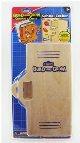 Build and Grow Kid's Beginner Build and Grow School Locker Project Kit