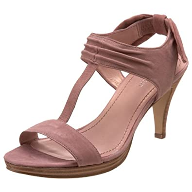 Nine West Women's Evocative T-Strap Sandal,Pink/Pink Leather,5 M US