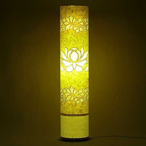 handmade-paper-floor-lamp-yellow-white-lotus-living-bedroom-light-home-decorative-shade