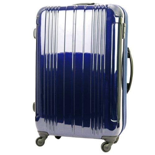 LEGEND WALKER スーツケース キャリーバッグ 4輪 TSAロック PC+ABS鏡面仕上げ 拡張機能付 軽量 78L (Navy)