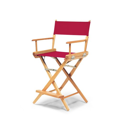 telescope casual world famous counter height director chair red with