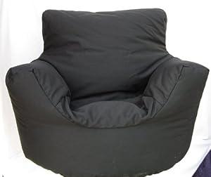 Cotton Black Bean Bag Arm Chair Seat * from Hallways Household Textiles Ltd