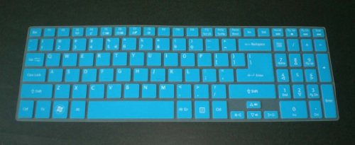 Swan Semi-Blue Ultra Thin High Quality Backlit Soft Silicone Keyboard Protector Skin Cover For Acer Aspire M3-581T, M3-581Tg, M5-581, M5-581T, M5-581Tg, M5-582Pt, M5-583P, V5-571Pg, V5-571P, V5-552, V5-552G, V5-552P, V5-552Pg, V5-572, V5-572G, V5-572P, V5