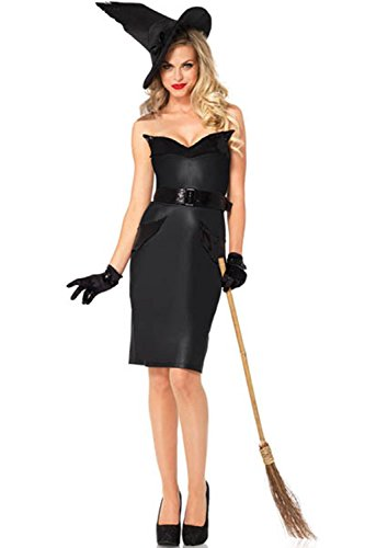 Lover-baby® Bodice Ruffle Fin Back Slit Pencil Dress Vintage Witch Halloween Costumes