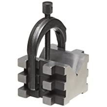 """Starrett 568A V-Block And Clamp For Round Or Square Work, 2"""" Diameter Round Capacity, 1-7/16"""" Square Capacity (1-9/16"""" With Screw At Top)"""