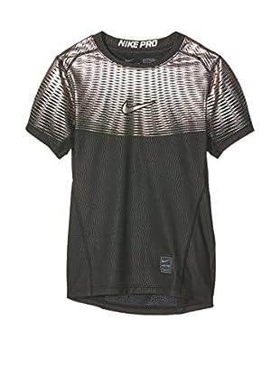 Nike Camiseta Manga Corta Hypercoll Max (Negro / Plateado)