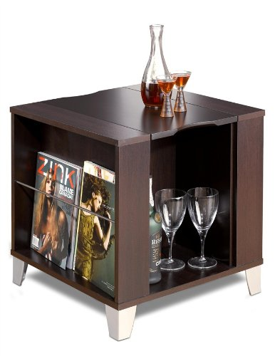 Nexera 410408 Brooklyn End Table, Espresso