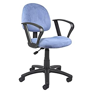 Boss Microfiber Deluxe Posture Chair with Loop Arms