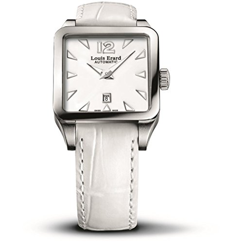 Louis Erard 20700AA01.BDC61 29X29mm Automatic Stainless Steel Case White Calfskin Anti-Reflective Sapphire Women's Watch