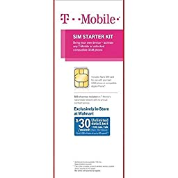 T-Mobile Sim Starter Kit with $30 of Service Included (Nano Sized SIM)