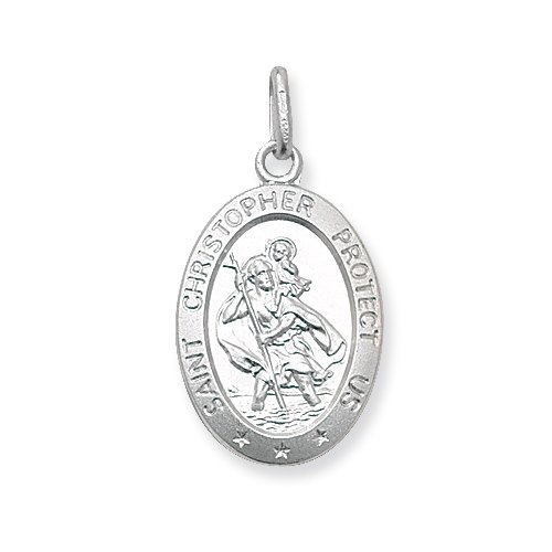SILVER ST. CHRISTOPHER OVAL Weight: 2.90 gm(s)