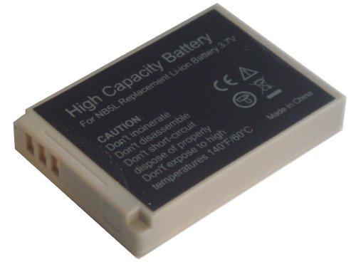 NB-5L - Lithium-Ionen AKKU für Canon Digital Ixus 800 IS | Ixus 850 IS | Ixus 860 IS | Ixus 900 Ti | Ixus 960 IS | Akkutyp: NB-5L (KEIN ORIGINALAKKU - HOCHWERTIGE ALTERNATIVE)