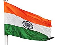 True Tricolour Indian Flag in Premium Satin Fabrics (30