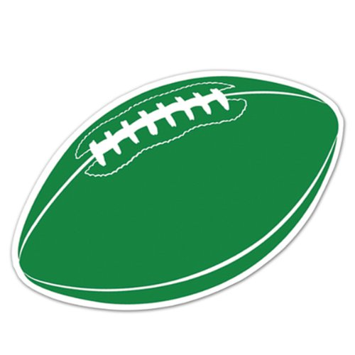 Football Cutout (green) Party Accessory  (1 count) - 1