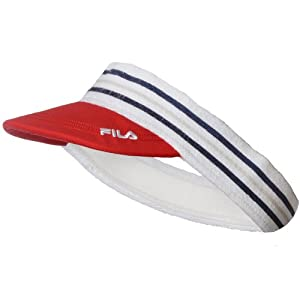 Fila Unisex Retro Sports Tennis Golf Visor - Red - AX00169612 - NS