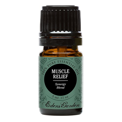 Muscle Relief Synergy Blend Essential Oil by Edens Garden- 5 ml (Clove, Helichrysum, Peppermint and Wintergreen) (Comparable to Young Living's PanAway blend)