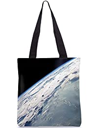 Snoogg Earth Image From The Top Digitally Printed Utility Tote Bag Handbag Made Of Poly Canvas