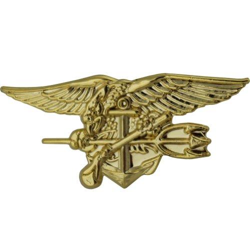 "U.S. Navy Special Warfare Seal Trident 1 1/8"" Lapel Pin"