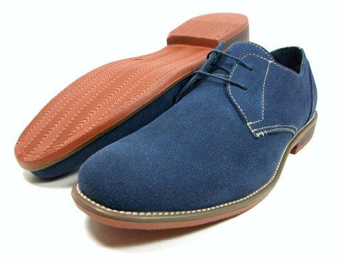 Mens Ferro Aldo Blue Faux Suede Oxford Lace Up Dress Shoes Size 7.5