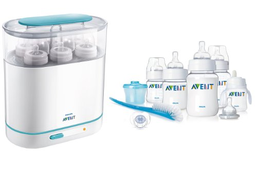 Philips Avent Classic Infant Starter Set With Electric 3-In-1 Sterilizer