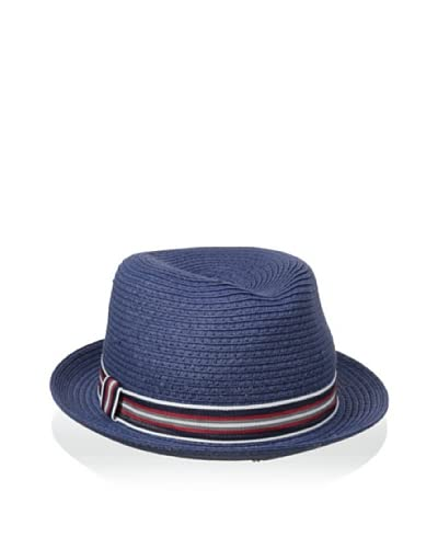 Giovannio Women's Fedora with Striped Band, Navy