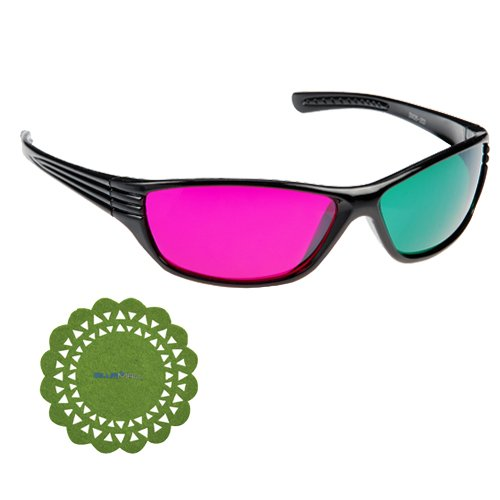 GTMax Basic round 3D Magenta/Green Glasses for