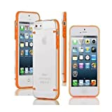 Glow In Dark Border Transparent Back Case for iPhone5/5S (Orange)