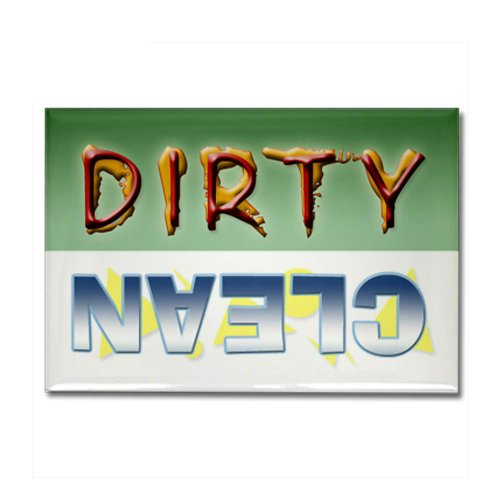 Dirty/Clean Dishwasher Magnet Rectangle Magnet By Cafepress