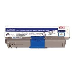 Oki Data 44469703 C330/530/MC361/MC561 Toner Cartridge, Type C17 (3k), Cyan