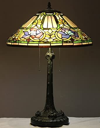 stained glass table lamp baroque w 18 shade floor la. Black Bedroom Furniture Sets. Home Design Ideas