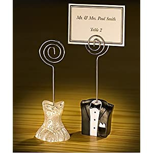 Baby Keepsake: bride and groom place card holders