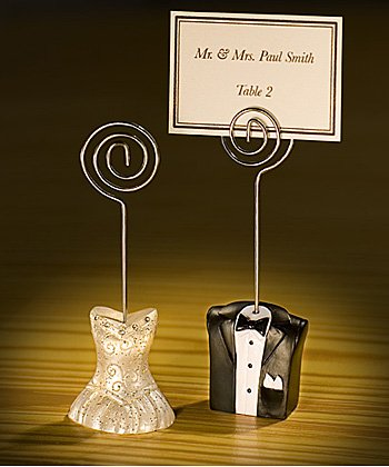 BRIDE AND GROOM PLACE CARD HOLDERS, Quantity of 30 pc,