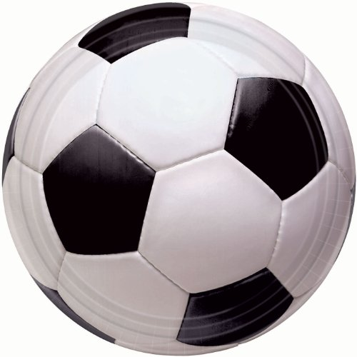 Soccer Fan Banquet Dinner Plates Party Accessory