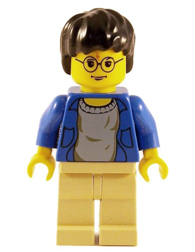 "Harry Potter (Blue Open Shirt, YF) - LEGO 2"" Harry Potter Figure"