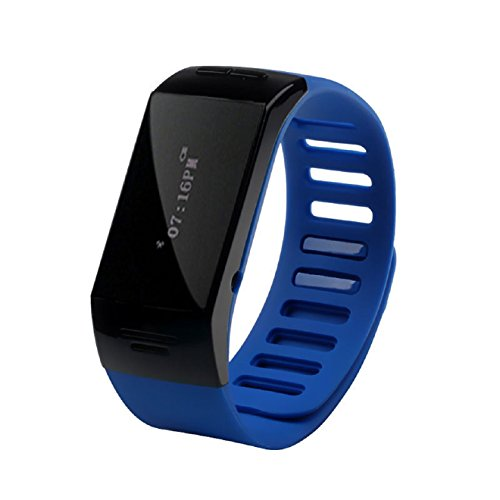 Aokdis (Tm) Hot Selling Smart Wrist Bluetooth Watch Wristband Bracelet Phone For Iphone Android Cellphone (Blue)