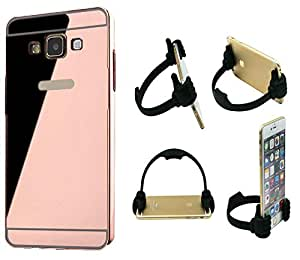 Novo Style Back Cover Case with Bumper Frame Case for Samsung GalaxyJ7(2016) Rose Gold + Ok Stand For Smartphones And Tablets