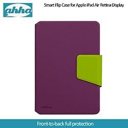 Ahha Zaki Smart Flip Case for Apple iPad Mini Retina Display - Purple / Green (A-FPAPIDMR-SZ56)