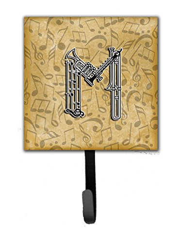 Letter M Musical Instrument Alphabet Leash or Key Holder CJ2004-MSH4 carolines treasures kj1139sh4 lhasa apso leash holder or key hook