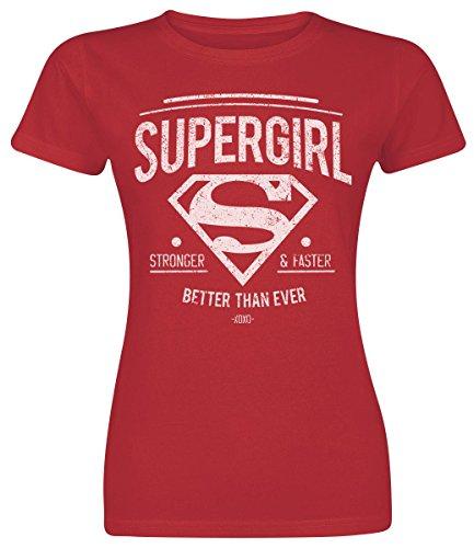 Supergirl Stronger & Faster Maglia donna rosso L