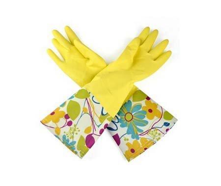 Umiwe(TM) Einzig Schicht Breit Rand Wasserdicht Antirutsch Haushalt Reinigen Gummi Latex Handschuhe,Blau mit Umiwe Accessorie