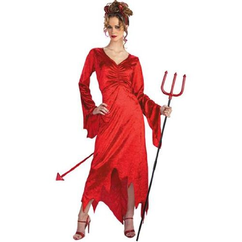 Sexy Devil Lady Adult Costume Dress (Naughty Devil Costume)