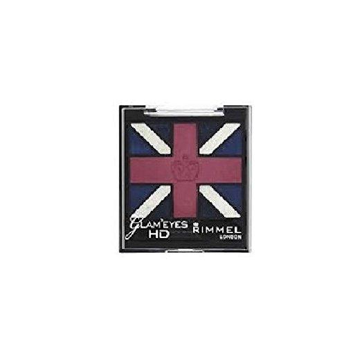 Rimmel Glam Eyes HD Union Jack Quad Eyeshadow - 008 True Union Jack (Lidschatten)