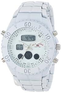 U.S. Polo Assn. Sport Men's US8578 Analog-Digital Display Analog Quartz White Watch