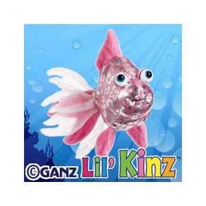 HS525- Lil' Kinz Pink Glitter Fish Webkinz New Code Sealed With Tag