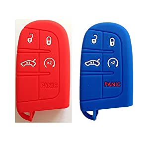 Amazon.com: Qty 2 (Red and Blue) Key Case Cover Jacket