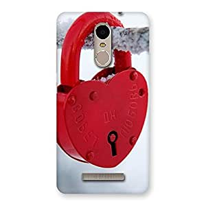 Ajay Enterprises Fill Red Lock Back Case Cover for Xiaomi Redmi Note 3