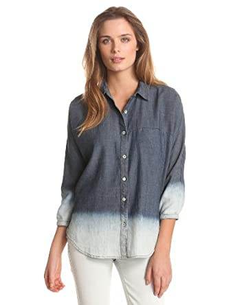 7 For All Mankind Women's Dolman Denim Shirt女士牛仔休闲衬衣$58.23